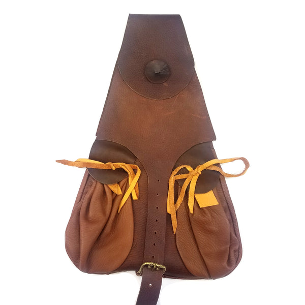 Soldier's Leather Belt Pouch Renaissance -historically accurate belt pouch or satchel to use Historical reenactment, middle ages costumes, Renaissance fair, SCA event, LARP, or medieval soldier cosplay