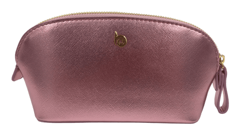BOSSA NOVA Makeup Bag - Pink Metallic
