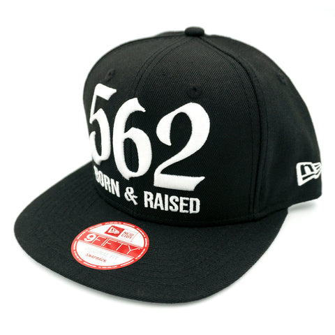 562 Born & Raised Black New Era Snapback