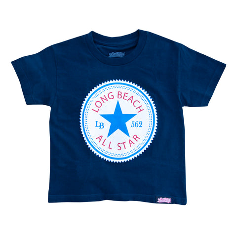 Long Beach All Star Youth Navy T-Shirt