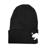 California Bear Black Long Beanie