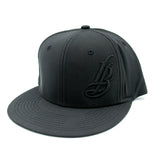 Cursive LB All Black Thermotrol Hat