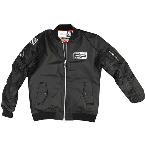 Long Beach Flight Crew Bomber Jacket Black