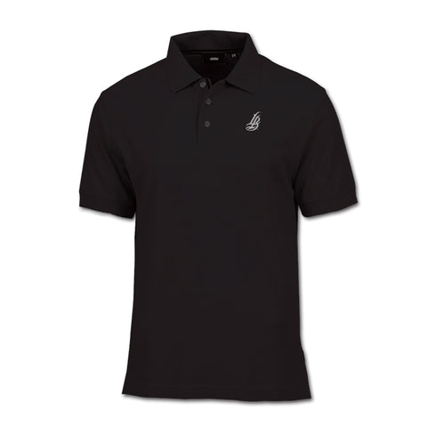 Cursive LB Black Men's Polo Shirt