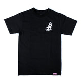 Long Beach Veins Men's Black T-Shirt