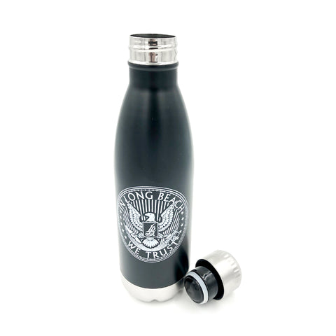 Official Seal Stainless Steel Black Water Bottle