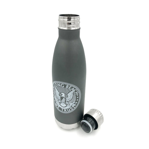 Official Seal Stainless Steel Grey Water Bottle