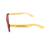 Wayfarer Long Beach Red Wooden Sunglasses