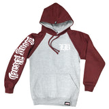 Old English Men's Grey/Cranberry Hoodies