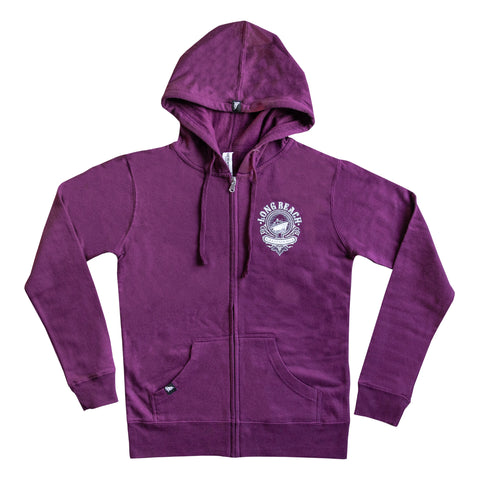 Cali Queen Women's Light Blackberry Zip Up Hoodie