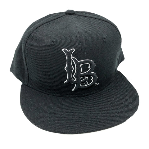CSULB Black/White Outline Snapback