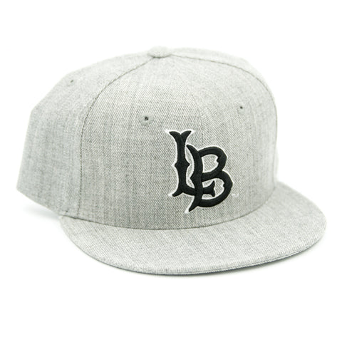 CSULB Heather Grey/Black Snapback