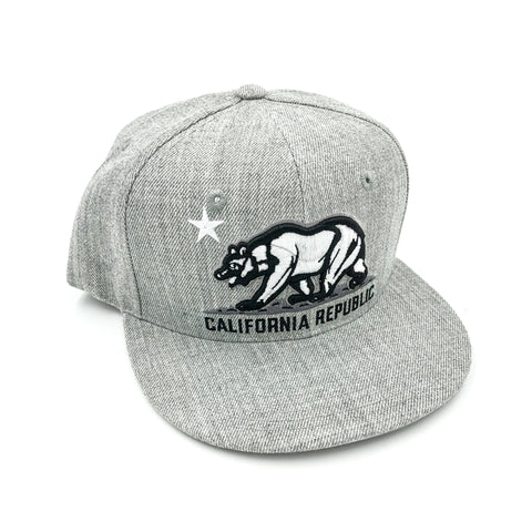 California Republic Heather Grey Snapback