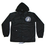 Long Beach coaches jacket with built-in hood and our Official Seal logo.
