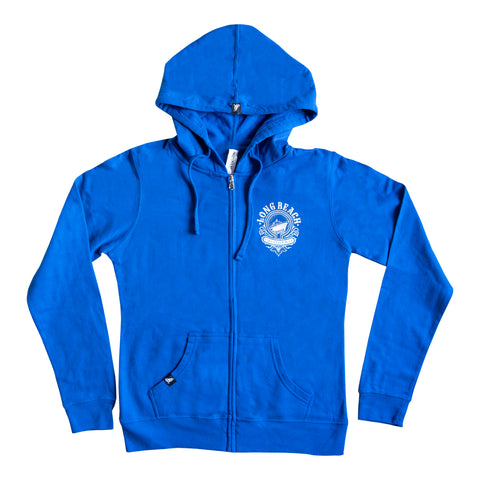 Cali Queen Women's Cobalt Zip Up Hoodie