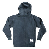 Collegiate Long Beach Men's Heather Navy Pullover Hoodie