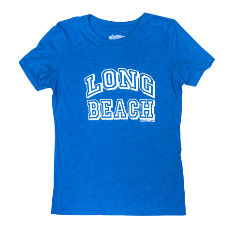 Collegiate Long Beach Women's Vintage Royal T-Shirt