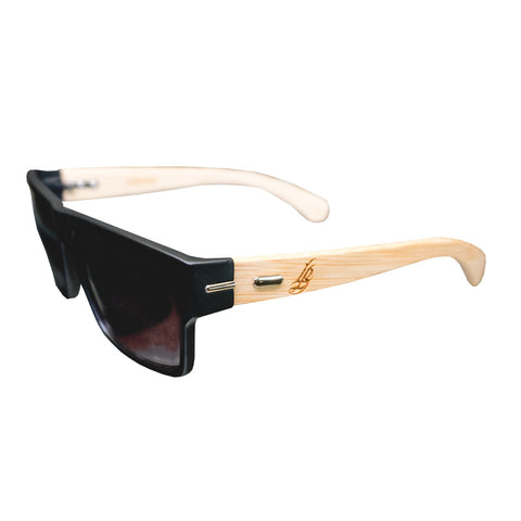 Cursive LB Single Hit Bamboo Sunglasses