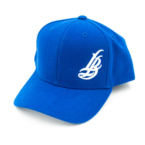 Cursive LB Youth Royal Baseball Hat