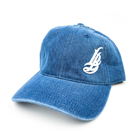 Cursive LB Denim Dad Hat