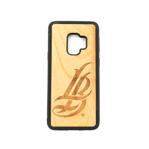 Cursive LB Wooden Galaxy 9 Case