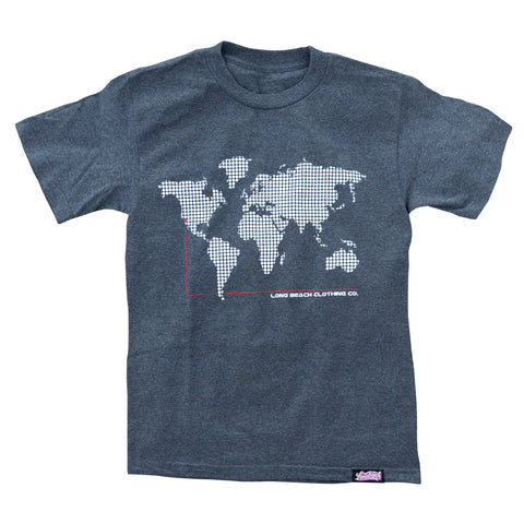LBC On The Map Men's Heather Charcoal T-Shirt