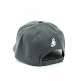 Cursive LB White On Dark Grey Baseball Hat
