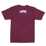 Hecho En Long Beach Men's Burgundy T-Shirt
