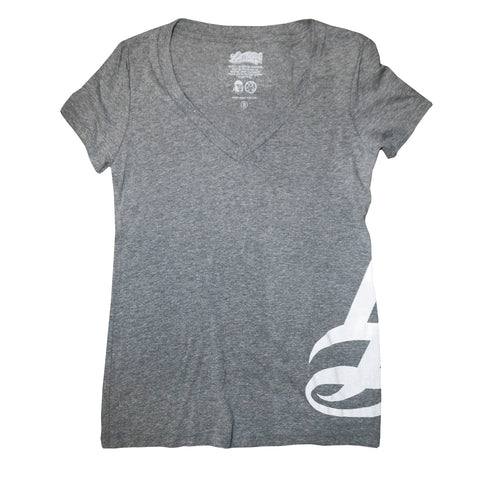 LB Hipster Charcoal Heather Women's V-Neck