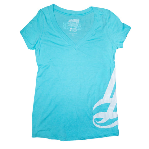 LB Hipster Tahiti Blue Women's V-Neck