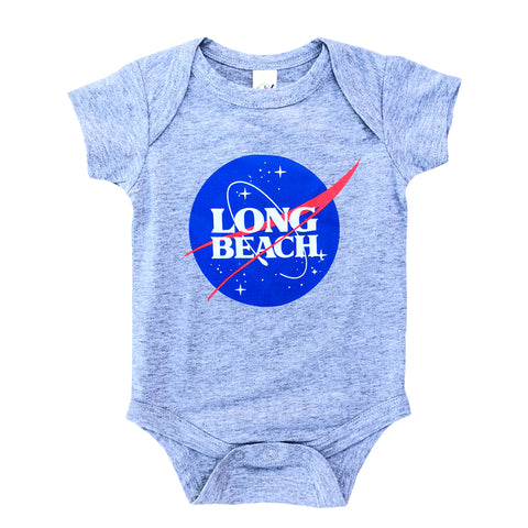 Intergalactic Long Beach Athletic Heather Onesie