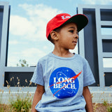 Intergalactic Long Beach Athletic Heather Toddler T-Shirt