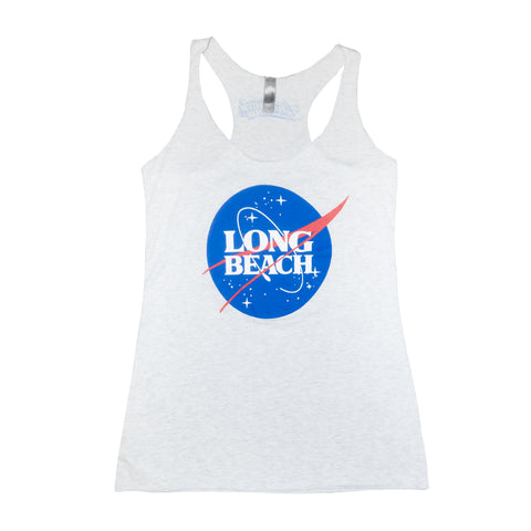 Intergalactic Long Beach Heather Gray Women's Racerback Tank