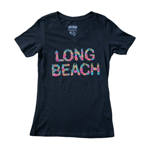 Island Women's Black V-Neck