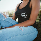 Long Beach Beach Club Charcoal Heather Women's Racerback Tank