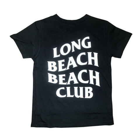 Long Beach Beach Club Black Toddler T-Shirt
