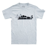 Long Beach Skyline Men's Ash T-Shirt