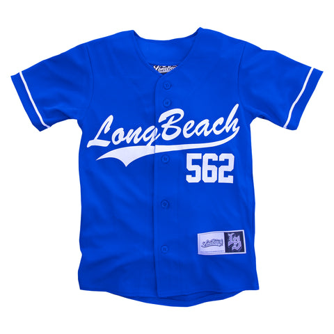 Long Beach Youth Baseball Jersey Royal Blue-ONLINE ONLY