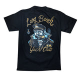 Long Beach Yacht Club Black Men's T-Shirt