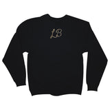 Long Beach Yacht Club Men's Black Crewneck