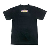 Cursive Purple And Gold LB Men's Black T-Shirt