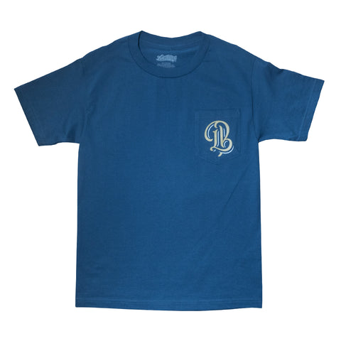 Long Beach Legend Harbor Blue Men's Pocket T-Shirt