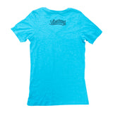 Made In Long Beach Script Women's Teal Heather V-Neck