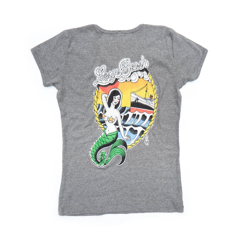 Maiden Voyage Women's Heather Grey V-Neck