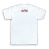Cursive Purple And Gold LB Men's White T-Shirt