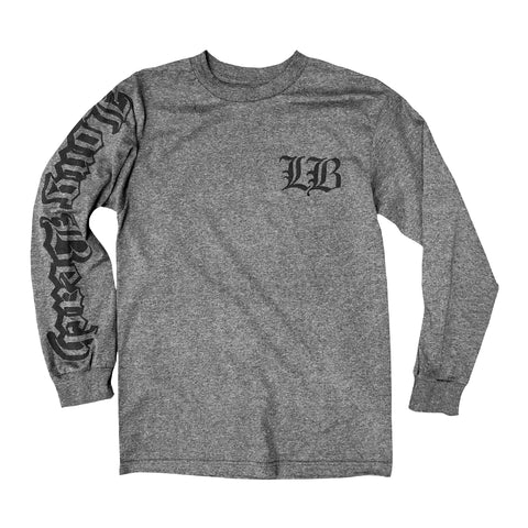 Old English Charcoal Long Sleeve Men's T-Shirt