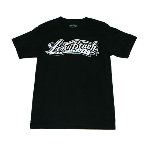Long Beach Clothing Co. Logo Men's Black T-Shirt