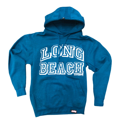 Collegiate Long Beach Men's Turquoise Pullover Hoodie