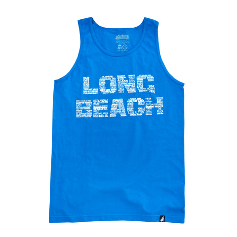 LB Neighborhoods Men's Royal Tank Top