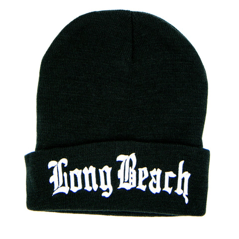Old English Long Beach Beanie